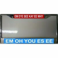 Mickey Mouse Song-em Eye See Kay Ee Why Em Oh You Es Ee License Plate Frame
