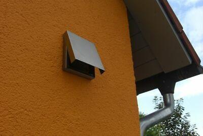 Energieeinsparung Küche Dunstabzug Abluftklappe Edelstahl Haus Dämmung Abluft