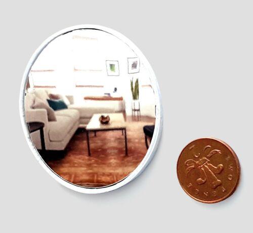 Dolls House 1//12 Scala Grande rotondo Specchio da muro bianco amorevolmente realizzato da BushBaby