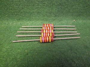 1 5 Pack Carbon Comp 200 OHM 1//2 Watt 5/% Resistors NOS