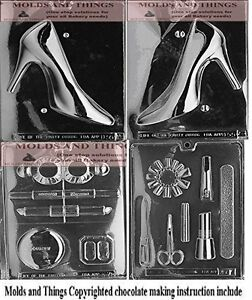 Make up kit chocolate candy mold,Manicure kit Candy Mold,High heel candy mold