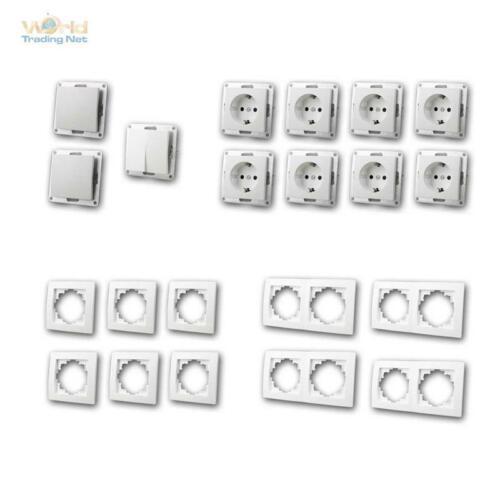 """prise de courant Up 21 pièces + cadre Interrupteur blanc Set FLAIR /""""Standard PLus/"""""""