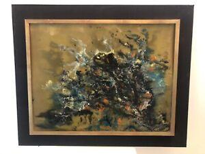 KERLANN-OLAYA-1925-1992-Composition-Mixte-Abstraite-XXeme-sur-panneau