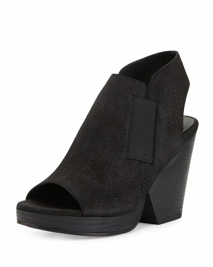 Eileen Fisher 'Plus' Block-Heel Sandals nero Dimensione 9.5 (Retail  275)