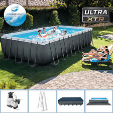 Intex Swimming Pool 732x366x132 Frame Pool Set mit Sandfilter XTR Schwimmbecken