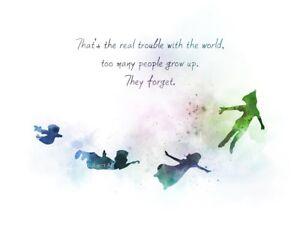 Walt Disney Inspirational Quote Print Home Decor Gift Nursery Children/'s Room