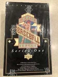 1993-Upper-Deck-Baseball-Cards-MLB-Series-One-Sealed-original-box