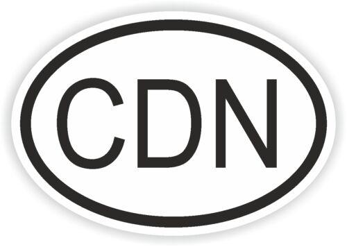CDN CANADA COUNTRY CODE OVAL STICKER AUTOCOLLANT bumper decal car auto bike