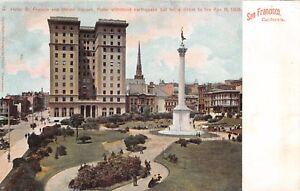 San Francisco Hotel St Francis Union Hotel Victim Of 1906 Fire