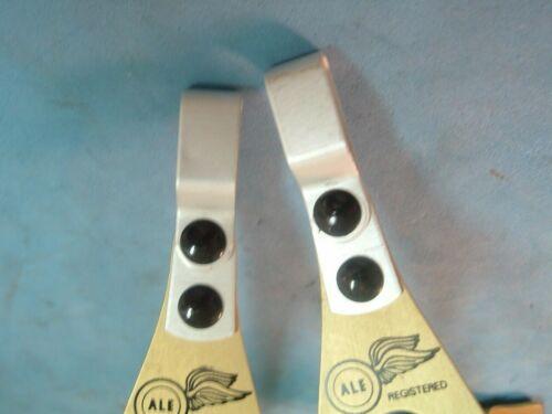 NOS Vintage MTB Toe Clips NEW ALE Art.97 Alloy Small Gold Road NIB-Rare!!