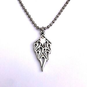 Gothic Horror Punk Rockabilly Metal 80s 90s 2000s Flaming Heart Pendant Necklace
