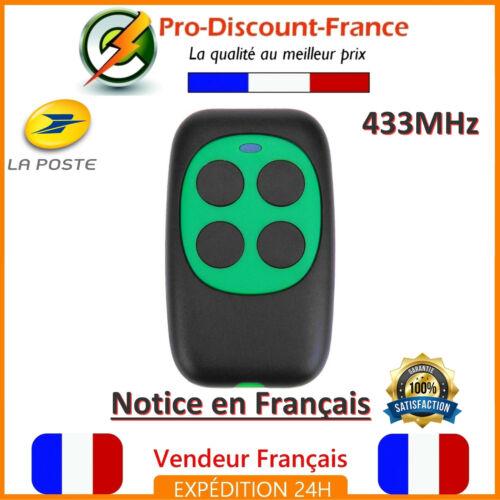 Télécommande Universelle 433 MHz Portail Garage Code 433mhz 4 Boutons Copieuse