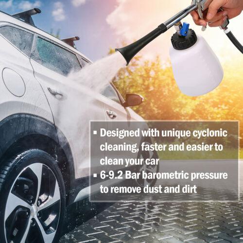 High Pressure Auto Car Air Pulse Cleaning Gun Brush Washer Foam Care Tool Kit US