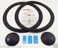 "Infinity SM150 SM152 SM155 15"" Woofer Foam Repair Kit w/ Inf Logo Dust Caps!"