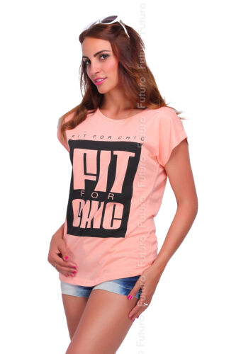 Casual Women/'s T-Shirt Fit for Chic Print Boat Neck Blouse Top Sizes 8-14 FB269