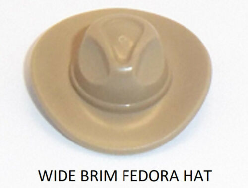 Lego Wide Brim Minifig Fedora Cowboy Hat x 1 Dark Tan