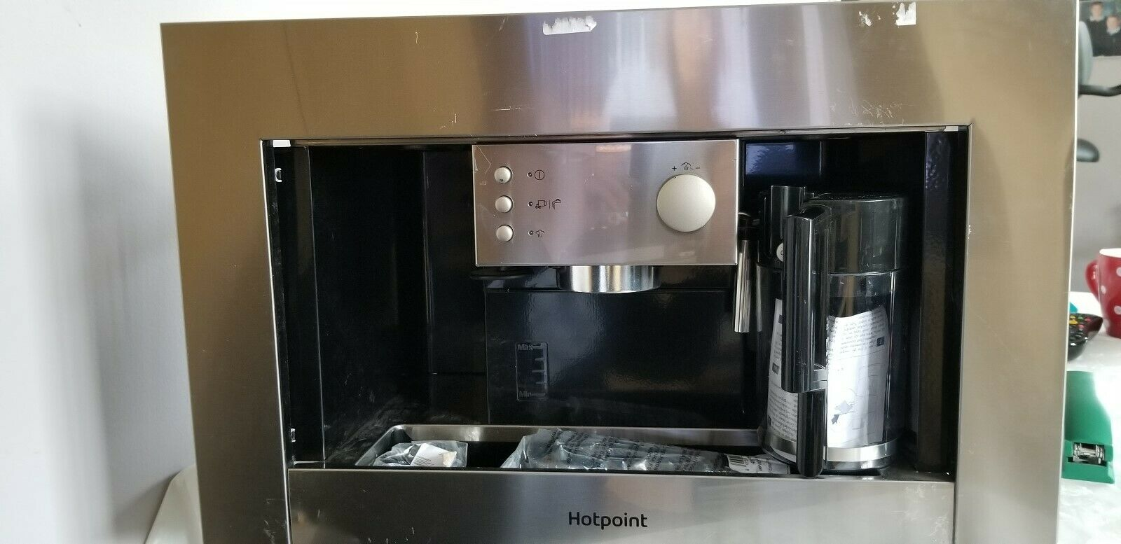 Hotpoint Cm 5038 Ix H Built In Filter Coffee Machine Stainless Steel