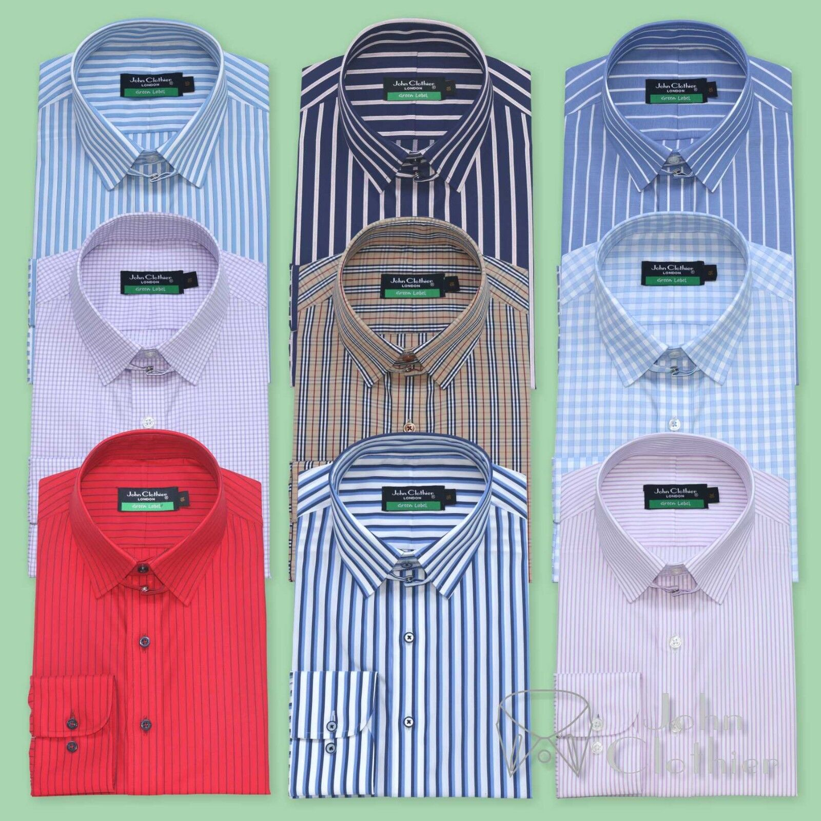 e99c197a80 ... Nuovo Collare Cotone Camicie Camicie Camicie Righe a Quadretti Anello  Colletto da Uomo Legame 6d3608 ...