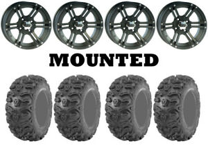 Kit 4 Kenda Bearclaw HTR K587 27x9-12/27x11-12 on ITP SS212 Matte Black CAN