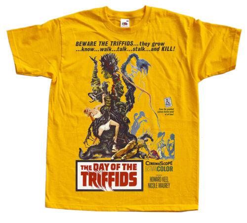 T-Shirt Toutes Tailles S-5XL Le jour des Triffids jaune Movie Poster 1962