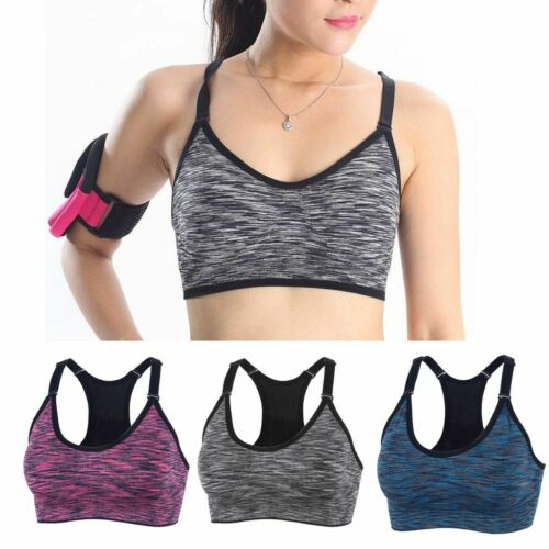 Women Seamless Sport Bra Running Gym Yoga Fitness Tank Stretch Workout Tank Top
