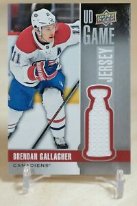 Brendan Gallagher UD Game Jersey 2019-20 Upper Deck #GJ-BG Montreal Canadiens