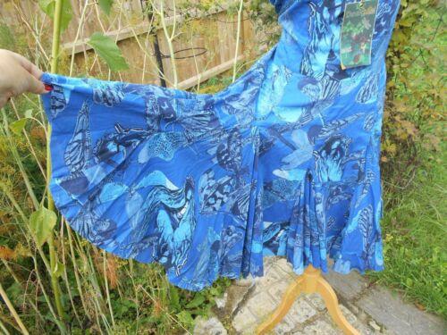 Ethnographic 44 Bare Dress Blue Taglia Farfalla 100 Cotton Desigual Insetti Back SxCES8