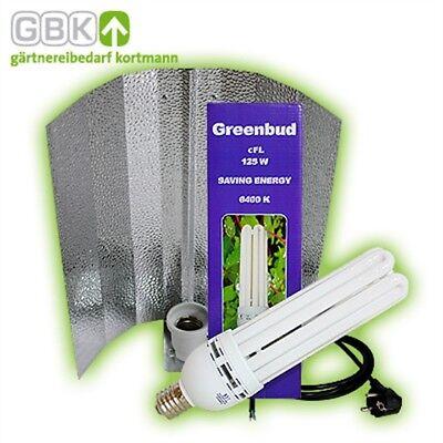Greenbud 125w Blau Wuchs Reflektor Energiesparlampe Neu Esl Cfl Pflanzenlampe