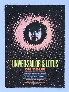 Unwed-Sailor-Lotus-2007-Tour-Poster-Denny-Schmickle-18x24-Hand-Screened