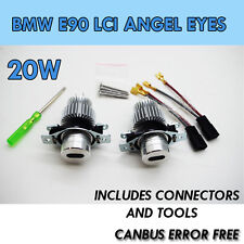 20W BMW E90 LCI ANGEL EYE UPGRADE MARKER  XENON 6000K WHITE 3 SERIES LED 6k