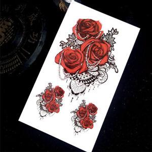 Tatouage Ephemere Temporaire Roses Ebay