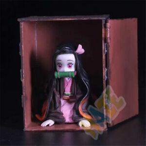 Anime-Demon-Slayer-Kimetsu-no-Yaiba-Kamado-Nezuko-9cm-PVC-Figure-Model-No-Box