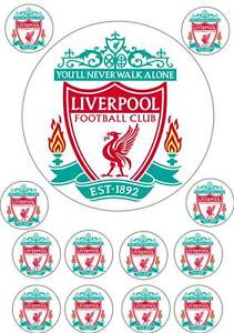 Liverpool Football Logo Edible Cup Cake Topper Icing
