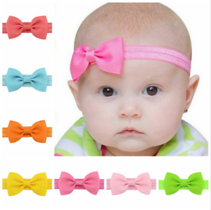 1PC Kids Girls Baby Headband Toddler Bow Flower Hair Band Accessories Headwea FF