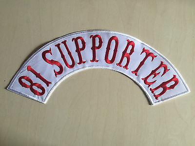 81 Supporter Patch Ricamate Back Patch Nuovo 40x9cm Mc, 81, Tonaca, Biker, Chopper-ker,chopper It-it Mostra Il Titolo Originale