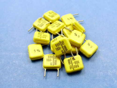 10x WIMA FKC 680pF 160V ±5/% Polycarbonate film and foil Capacitor 0,68nF//160V