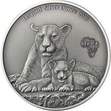 Kamerun 1000 Francs 2018 Leopard Silver Ounce Antique Finisch 1 Oz Silbermünze