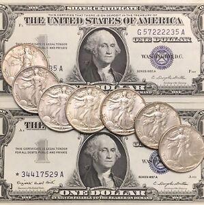 Walking-Liberty-Half-Dollar-amp-Silver-Certificate