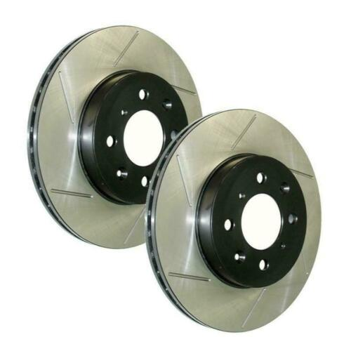 StopTech Power Slot Slotted Rear Brake Rotors for 02-05 WRX 126.47011S