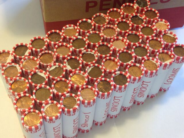 50 Rolls of Unsearched Pennies, Denver Area. Wheats, Coppers, and UNCS. Loomis