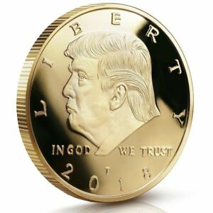 2018 President Donald Trump Gold Plated EAGLE Commemorative Lot Coin Trump