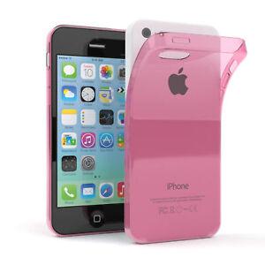 Ultra-Slim-Cover-fuer-Apple-iPhone-5C-TPU-Case-Silikon-Huelle-Rosa