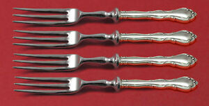 """Hot Sale Fontana By Towle Sterling Silver Fruit Fork Set 4-piece Hhws 6"""" Custom Made Antiques"""