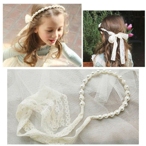 Flower Girls Princess Dress Lace Bowknot Prom Party Wedding Bridesmaid Birthday