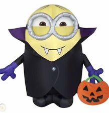 Gemmy Halloween Gone Batty Minion Vampire Airblown Inflatable Yard Decor For Sale Online Ebay