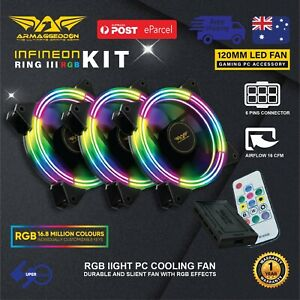 3-Pack-RGB-Case-Fan-120mm-PC-Computer-Cooler-DC12V-with-Remote-Controller-Ring-3