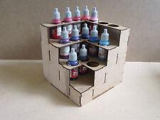 Paint Stand Corner  bottle rack storage warpaint Vallejo warhammer 40k wargames