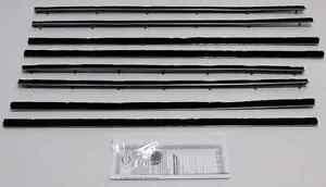 1964 Chevy Chevelle Convertible New Repops Window Felt Weatherstrip Kit 8 Pc