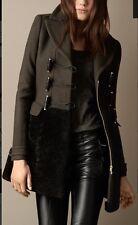 Burberry Amazing Rare Shearling Skirt Duffle Military Coat Sz UK 6 XS RRP £1450