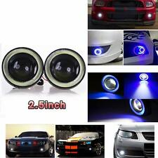 Car Angel Eye COB Blue Halo Ring LED DRL Projector Lens Fog Driving Light SUV